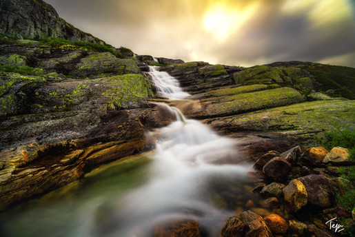 Slanted Falls of Iceland
