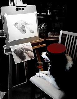 dog drawing in pencil philadelphia artist radicchi