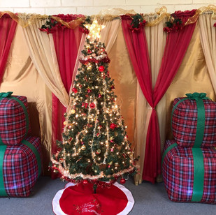 Backdrop and Gifts