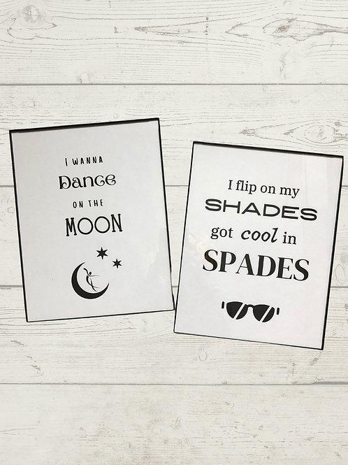 Printable Wall Art: I Wanna Dance on the Moon