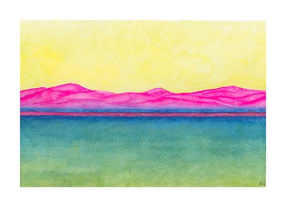 Neon Landscape - Print