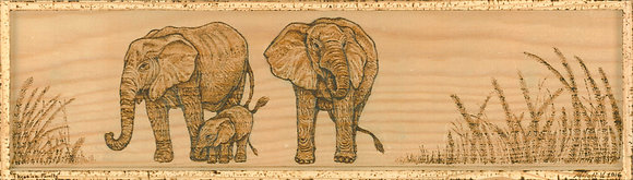 Three is a Family - Framed Print