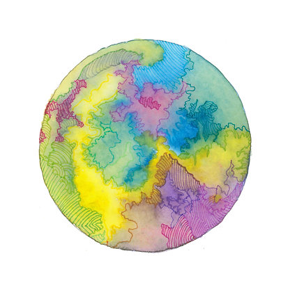 The Abstract Globe - Print
