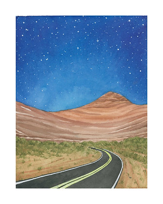 Through the Desert - Print