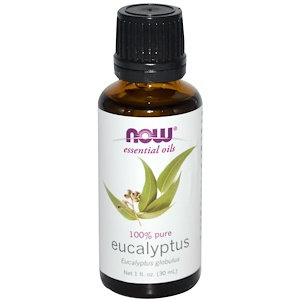 Eucalyptus oil, 100% Pure, 1 fl oz (30 ml), NOW Essential Oils