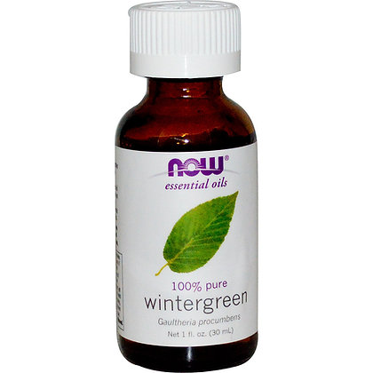 Wintergreen oil, 100% Pure, 1 fl oz (30 ml), NOW Essential Oils