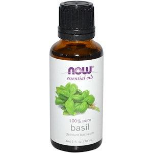 Basil, 100% Pure, 1 fl oz (30 ml), NOW Essential Oils