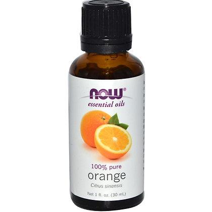 Orange oil, 100% Pure, 1 fl oz (30 ml), NOW Essential Oils