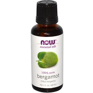 Bergamot oil, 100% Pure, 1 fl oz (30 ml), NOW Essential Oils