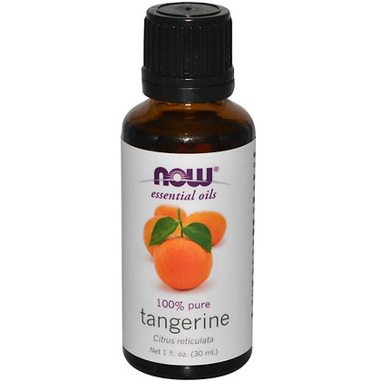 Tangerine oil, 100% Pure, 1 fl oz (30 ml), NOW Essential Oils