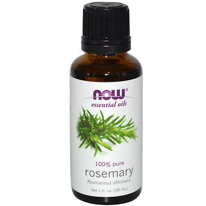 Rosemary oil, 100% Pure, 1 fl oz (30 ml), NOW Essential oils