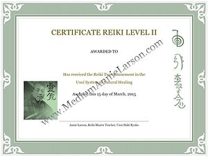 Reiki II Certification