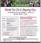Annie Larson World Tai Chi & Qigong Day Reiki Healing