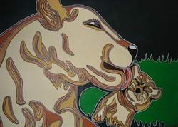 Fules Nancy. Leona. Acrylic on canvas