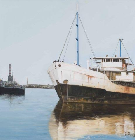 Duarte Jorge. Puerto de Buenos Aires. Oil on canvas. 28 x 20 in.NFS