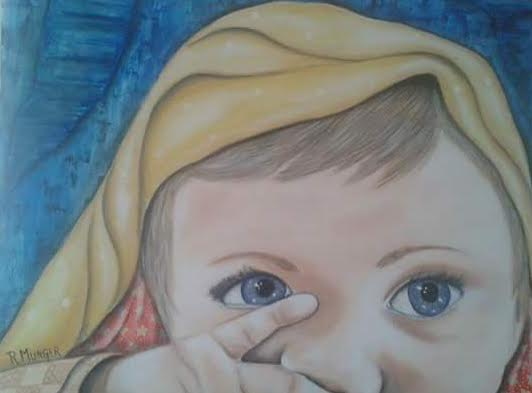 Munger Rossana. Derecho a un nombre. Acrylic on canvas