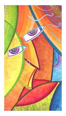 MS Art Gallery.Gitana Rana: Gouche on paper, 30 x 16cm. 2007.
