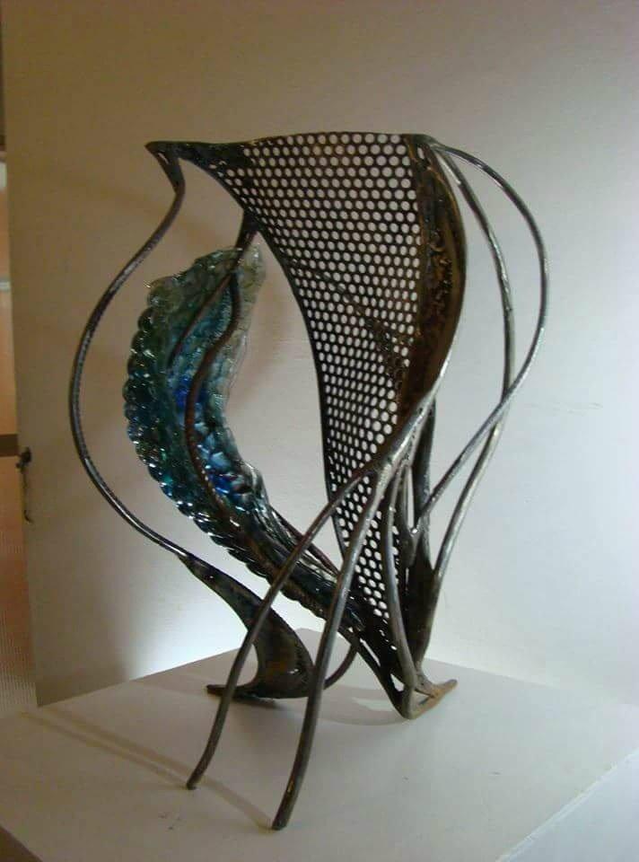 Crisol. Iron & Glass. 23 x 19 in.