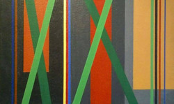 Juan Mele. Acrylic on canvas. Invencion 293. 14x12inches
