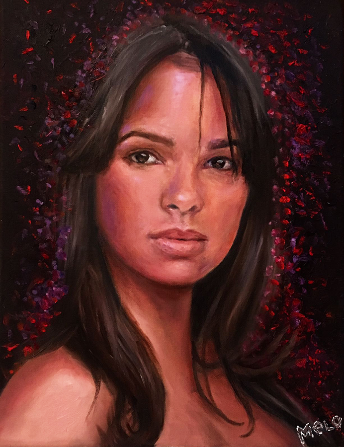 Homage to Misty Copeland. Oil on canvas
