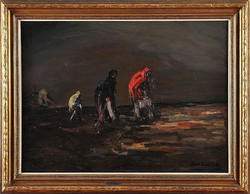 Koek Koek Stephen. Recogiendo las redes.39 x 28 in.$45,000
