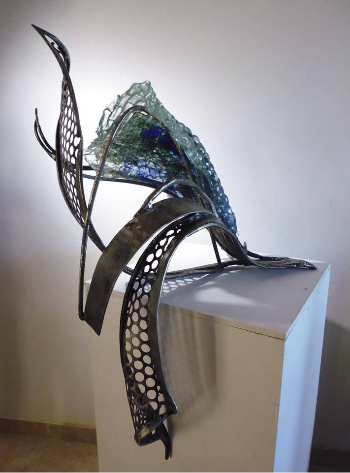 Albedo. Iron & Glass. 31 x 19 in