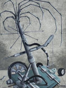 Gonzalez Giraldo.Maquina Mod.Oil on canvas.31,5 x 21,5 in.$ 2,500