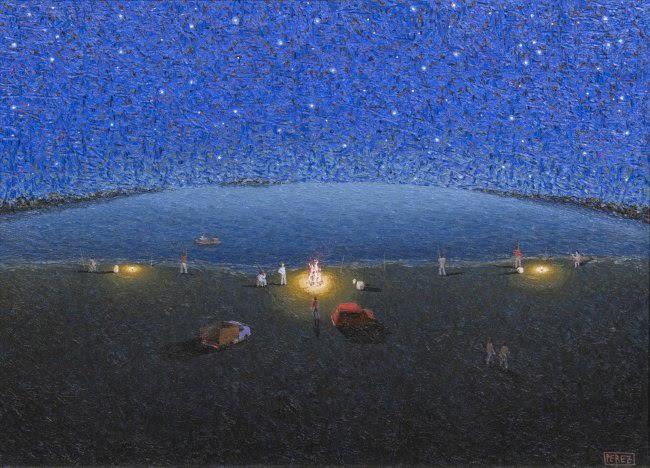 Segundo Perez. Pescadores. Oil on canvas.23 x 31 in.$20,000