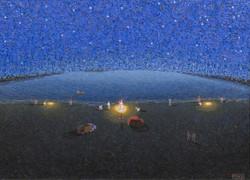 Segundo Perez. Pescadores. Oil on canvas.23 x 31 in