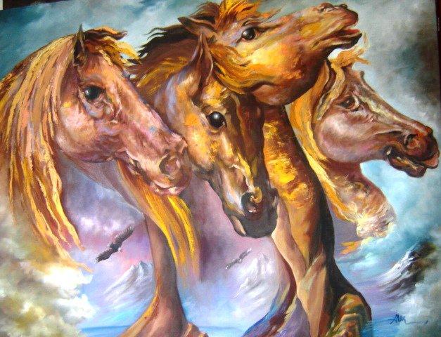 Benites, Alejandro. El Espiritu de Apho. Oil on canvas.