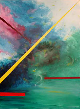 Moscoso Marisa. Coordenadas espacio tiempo. Acrylic on canvas
