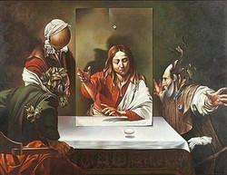 Campanella Vito. Homenaje a Caravaggio. Oil on canvas.34 x 26 in.$ 100,000