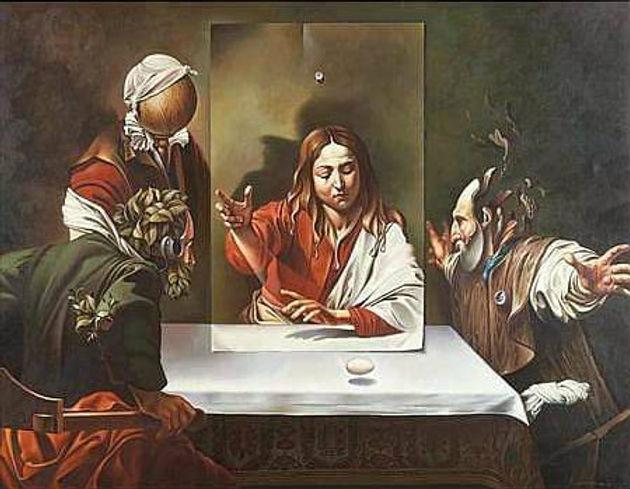 Campanella, Vito. Homenaje a Caravaggio. Oil on canvas. 34x26 in.