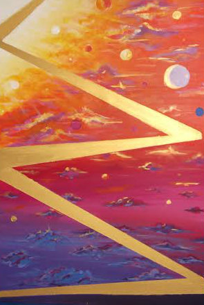 Moscoso Marisa Conciencia Cosmica. Acrylic on canvas