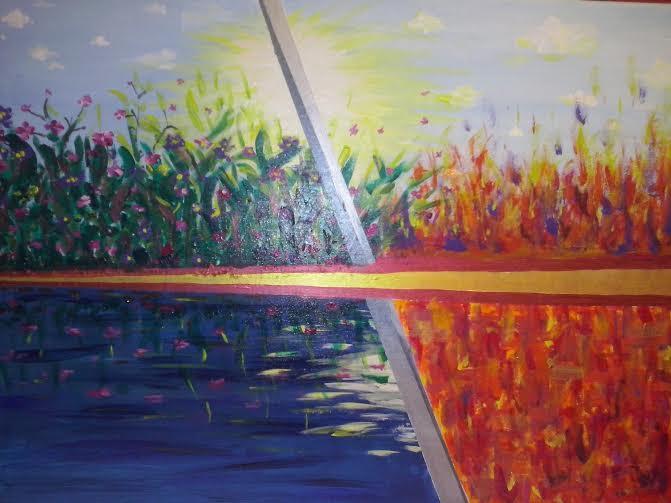 Moscoso Marisa. cuatro elementos II Acrylic on canvas