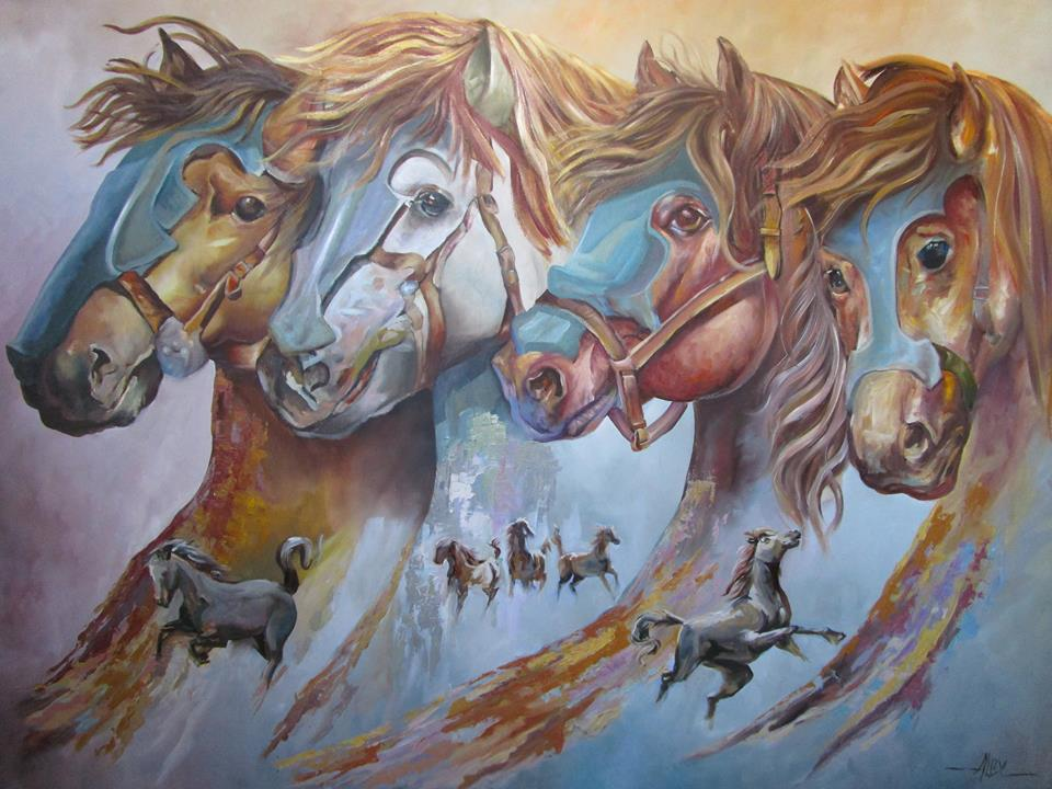 Benites, Alejandro. Oil on canvas
