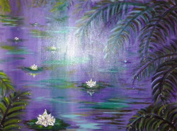 Moscoso Marisa.Fluir. Acrylic on canvas