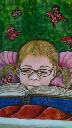 Munger Rossana. Derecho a estudiar. Acrylic on canvas