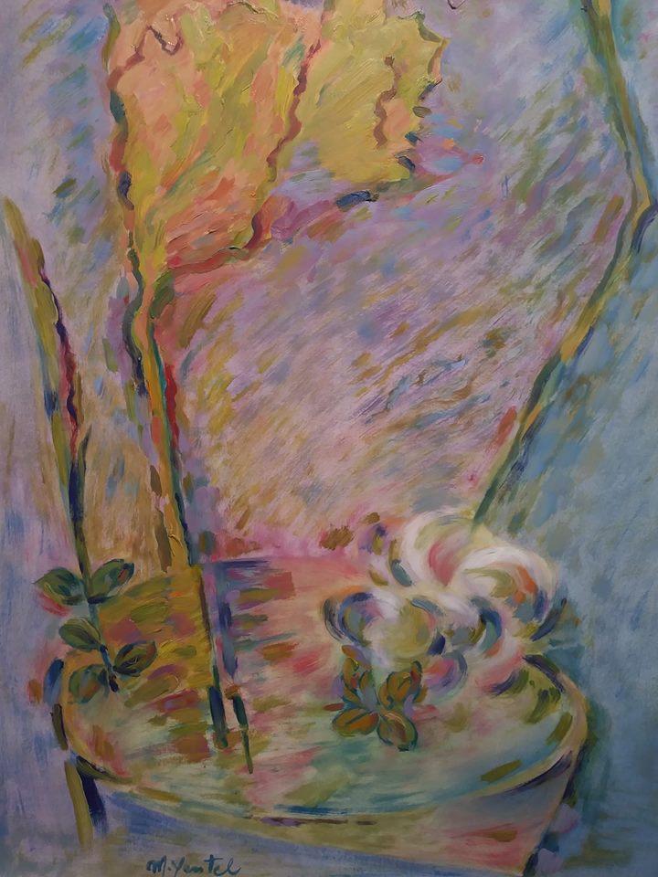 Hoja Plegada - Oil on paper