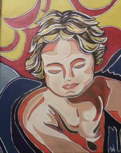 Fules Nancy. Protector de vida. Acrylic on canvas