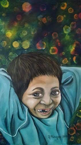 Munger Rossana. Derecho a la libertad de expresion. Acrylic on canvas