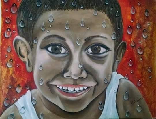 Munger Rossana. Derecho al agua. Acrylic on canvas