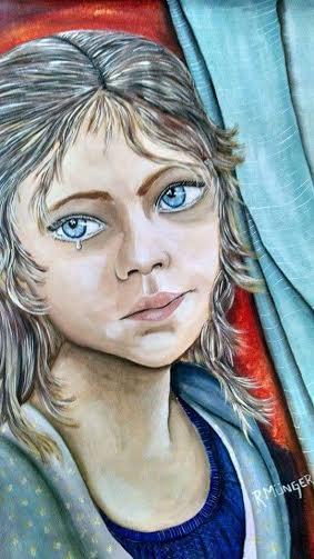 Munger Rossana. Derecho a ser protegido contra el maltrato. Acrylic on canvas