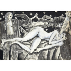 Elizondo Arturo.Untitled. Charcoal on paper. 50 x 72 in.$4,800