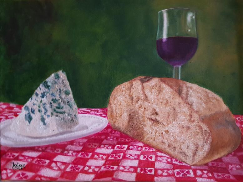 Valentino pan, queso y vino