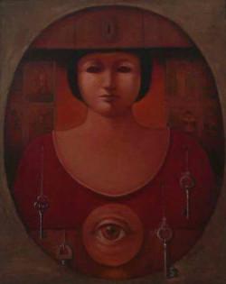 Gatti Roberto. La Sibila. Oil on canvas.16 x 13 in.SOLD