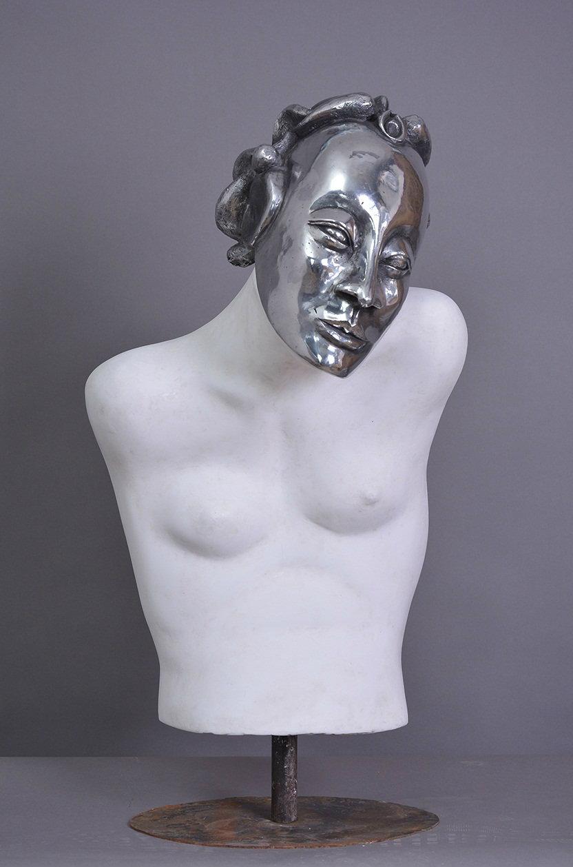 Mask & Soul I. 35 x 15 in.
