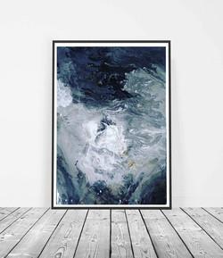 """""""Sky"""" Resin on canvas"""