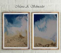 """""""Ocean"""" Resin on canvas"""