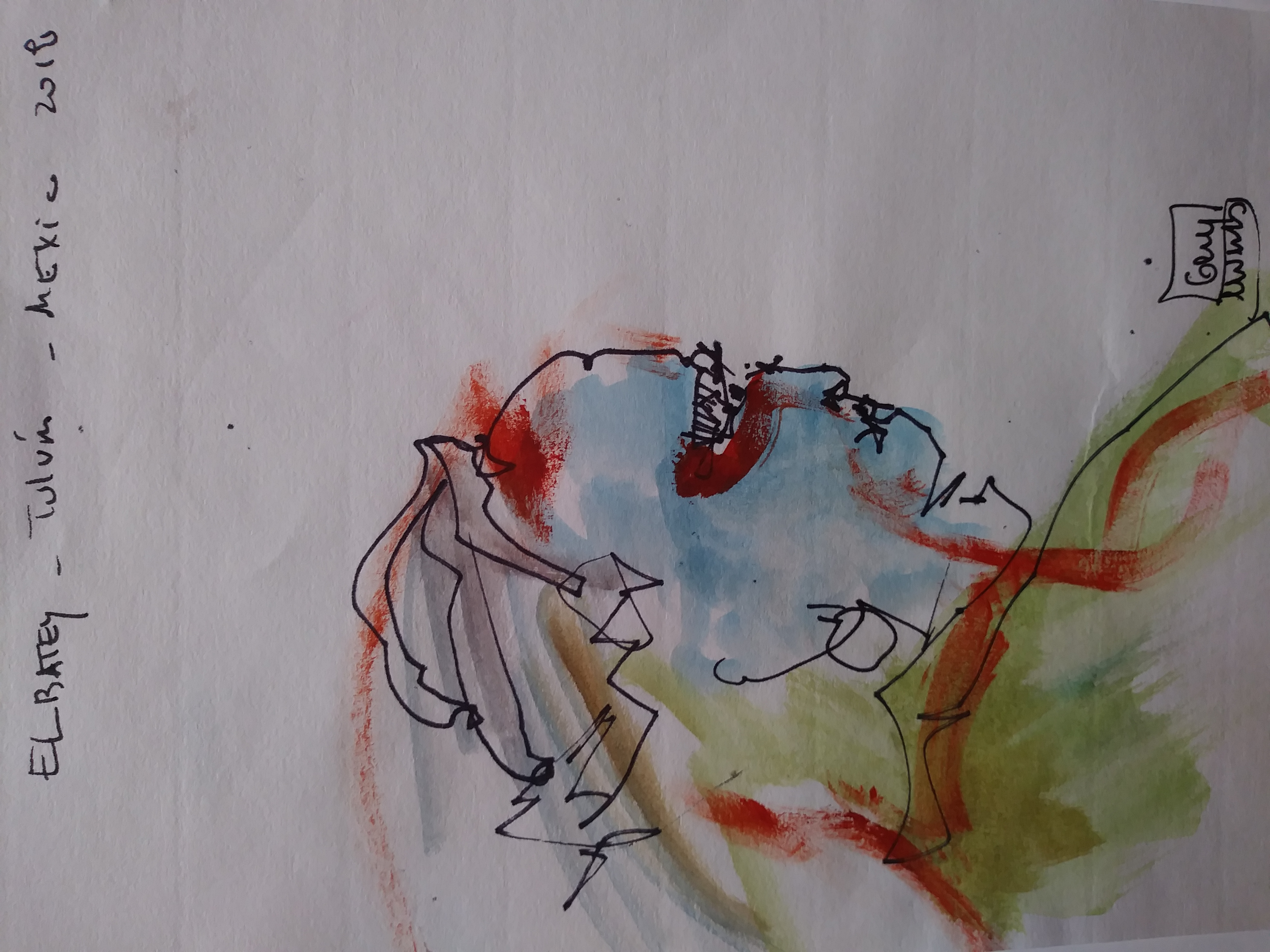 Untitled. Drawing Mixed Media on pap
